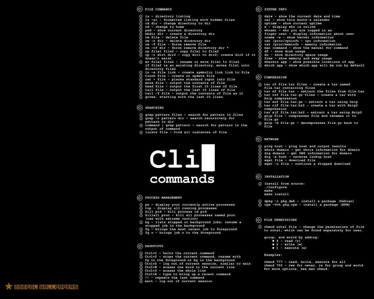Linux Command Line Cheat Sheet | OverAPI com